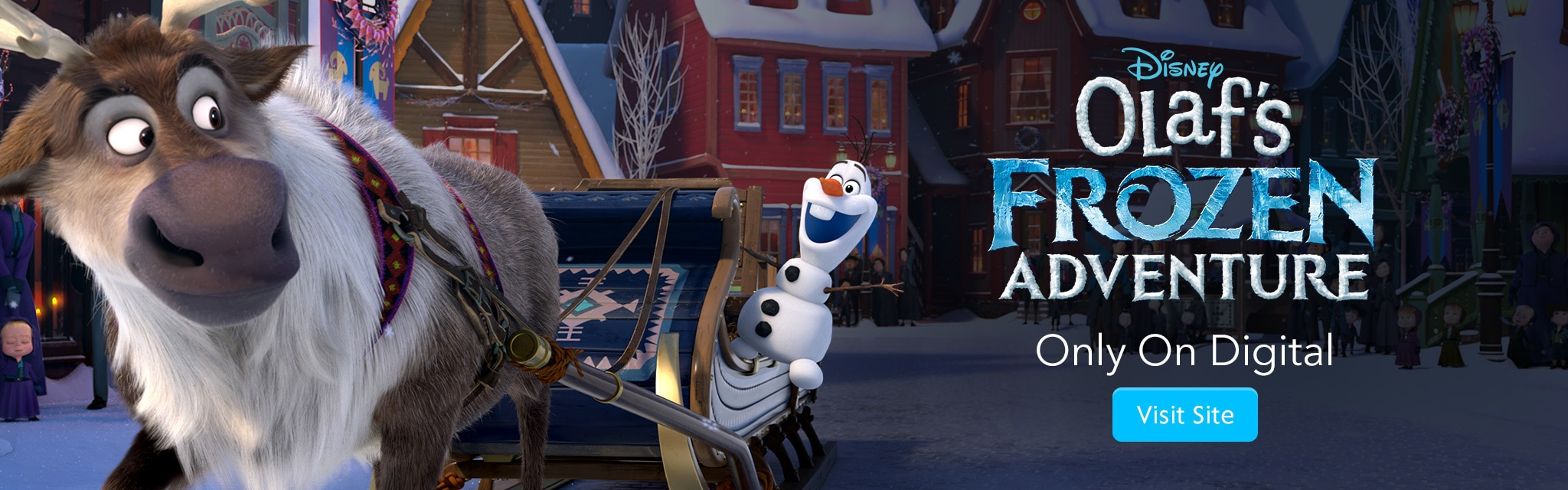 Olaf's Frozen Adventure - Only On Digital - Visit Site