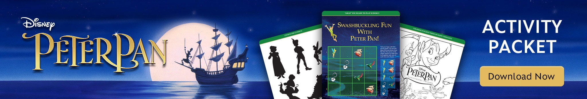 Peter Pan Activity Packet - Download Now