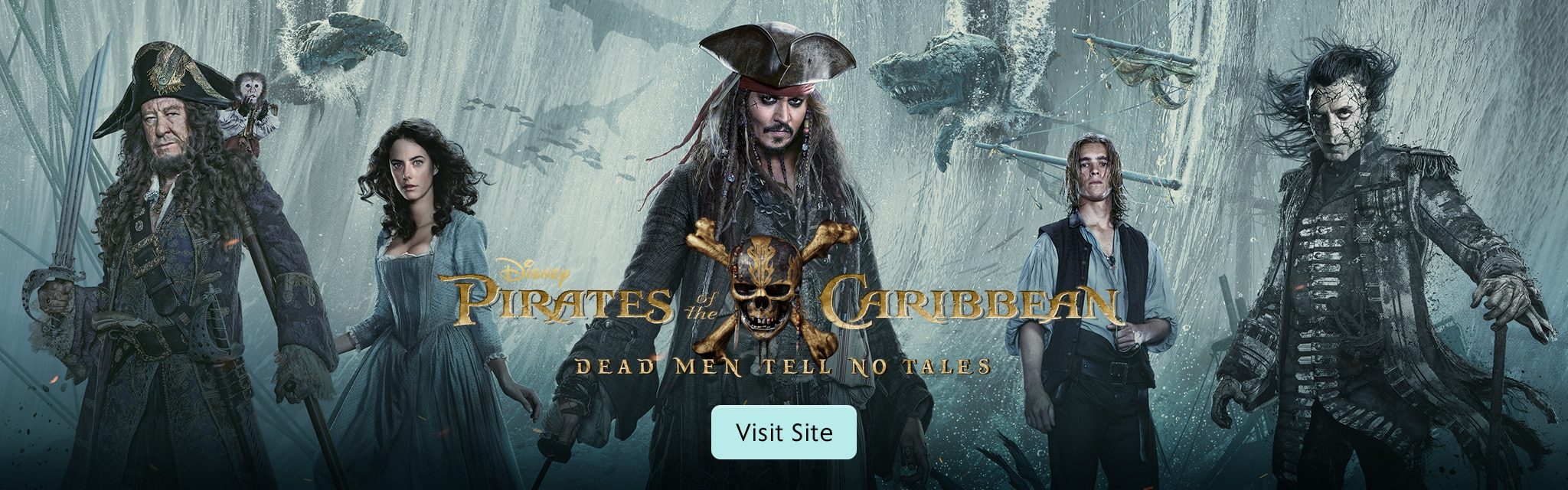 Visit the Pirates of the Caribbean: Dead Men Tell No Tales site