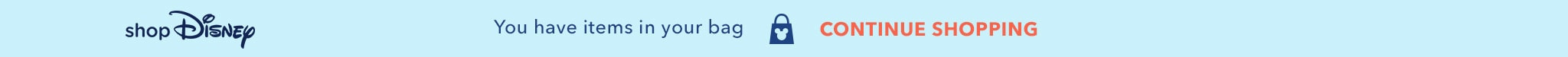 You have items in your shopDisney bag.