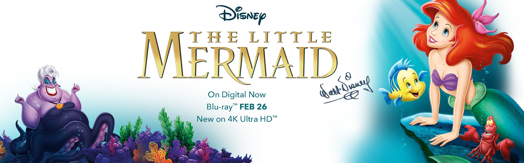 The Little Mermaid - On Digital Now - Blu-ray February 26 - New on 4K Ultra HD