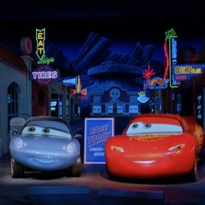 Acelere na Radiator Springs Racers no Disneyland Resort