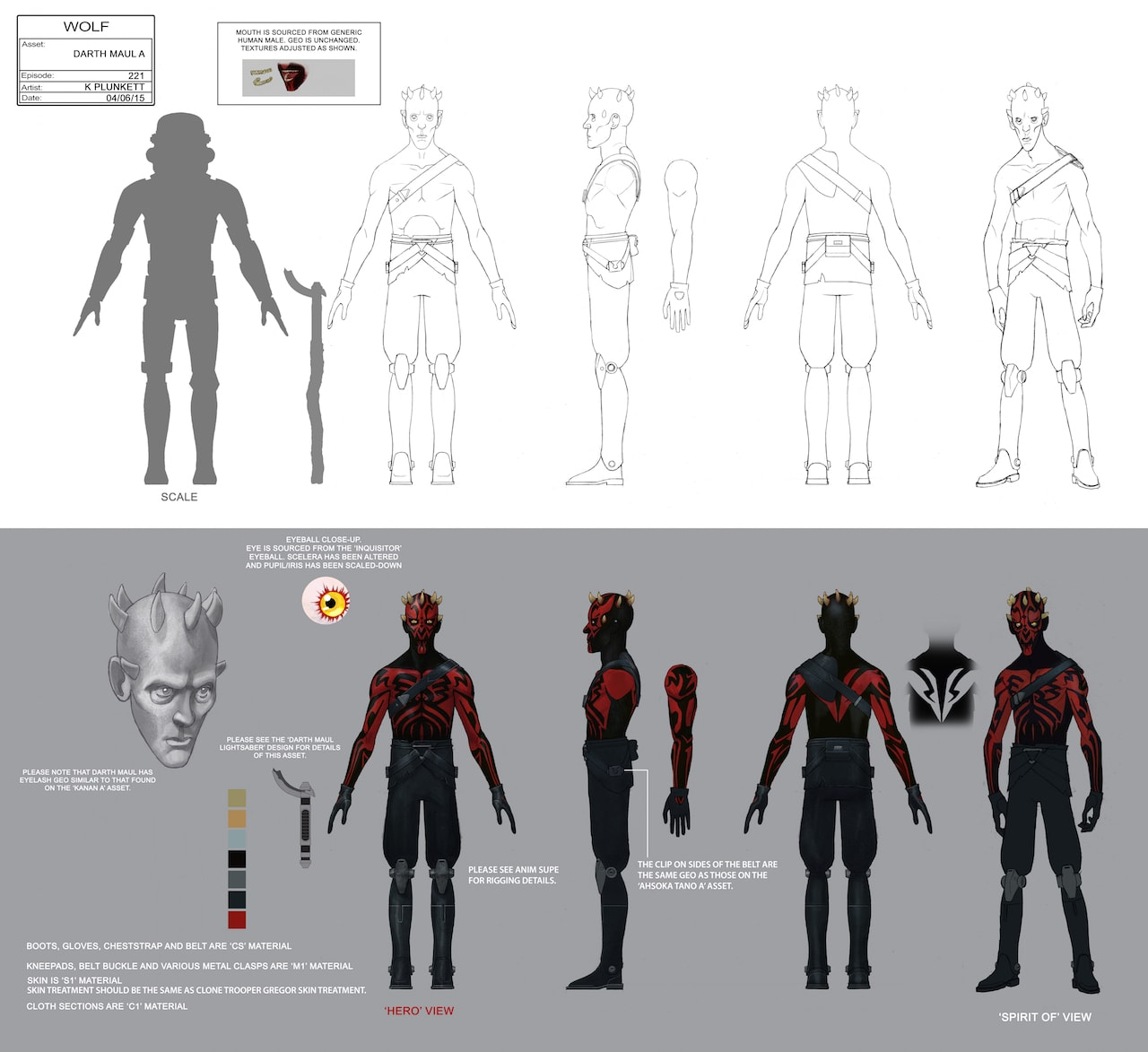 1815c394c9c Darth Maul full character illustration by Kilian Plunkett.