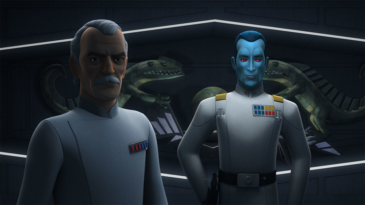 Wullf Yularen and Grand Admiral Thrawn