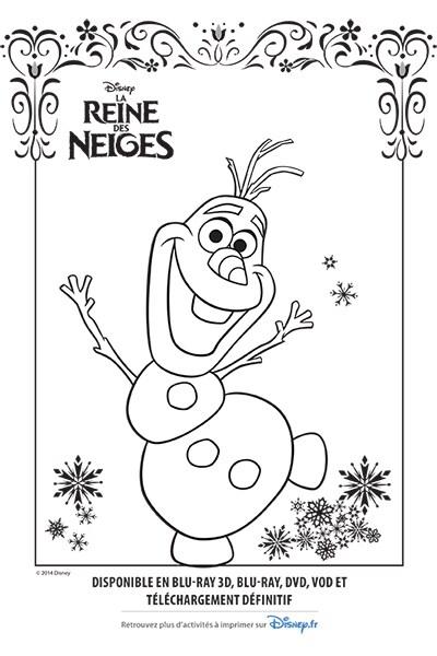 Coloriage Olaf