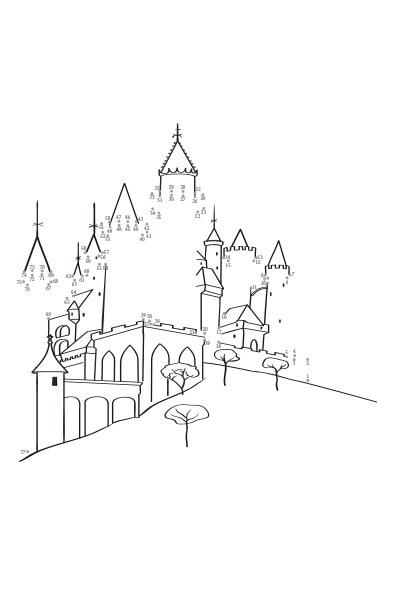 Points à relier : Le Château de la Belle au Bois Dormant