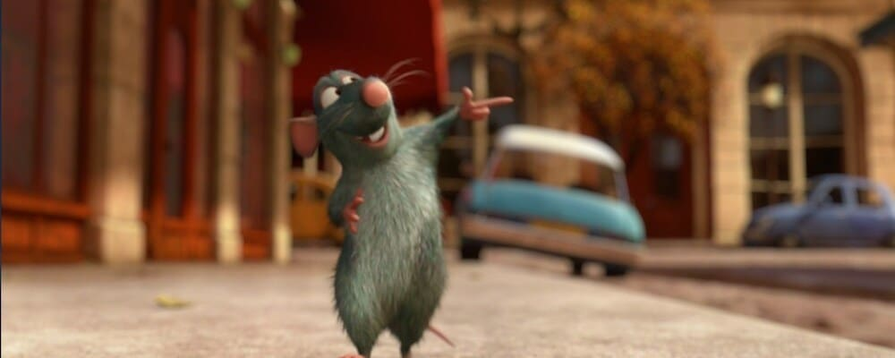 "Remy the rat from the animated movie ""Ratatouille"""