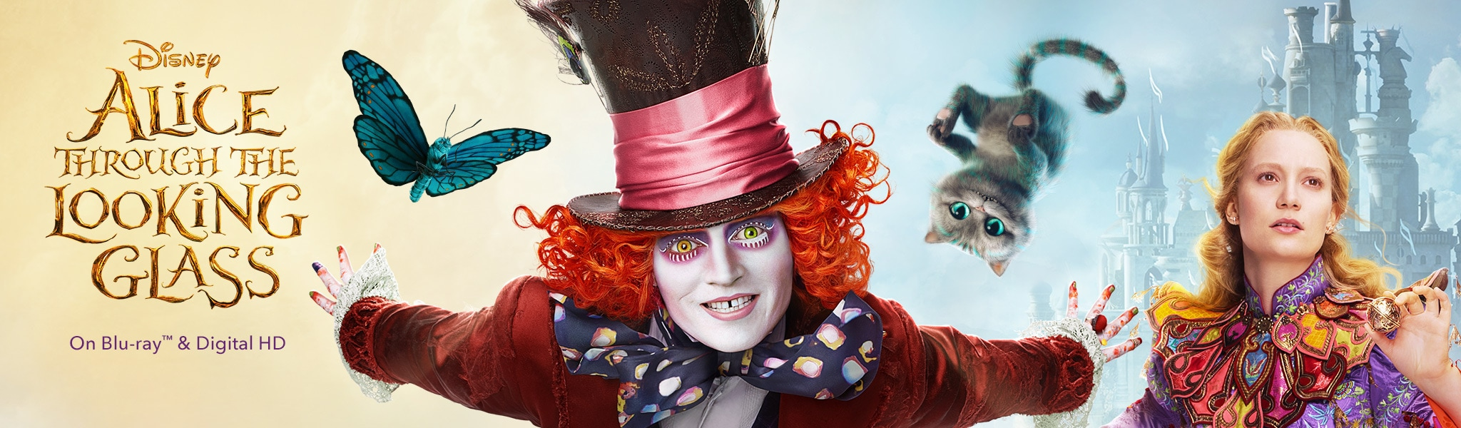 Alice Through the Looking Glass - on Blu-Ray Digital HD