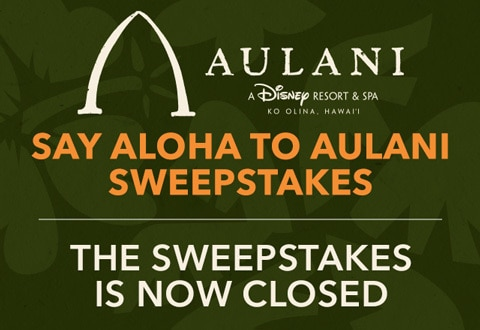 Say Aloha to Aulani Sweepstakes | Disney Parks