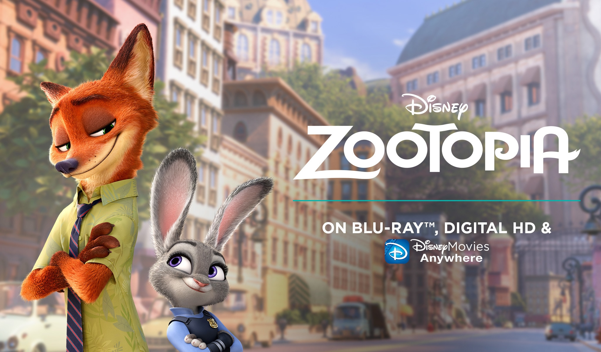 Zootopia On BluRay and Digital HD