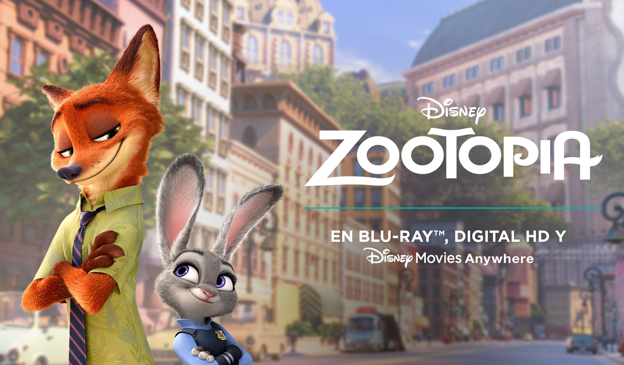 Zootopia En Blu-ray™, Digital HD y Disney Movies Anywhere el 7 de junio