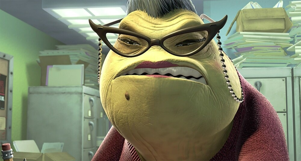 "Roz from the movie ""Monsters, Inc."""