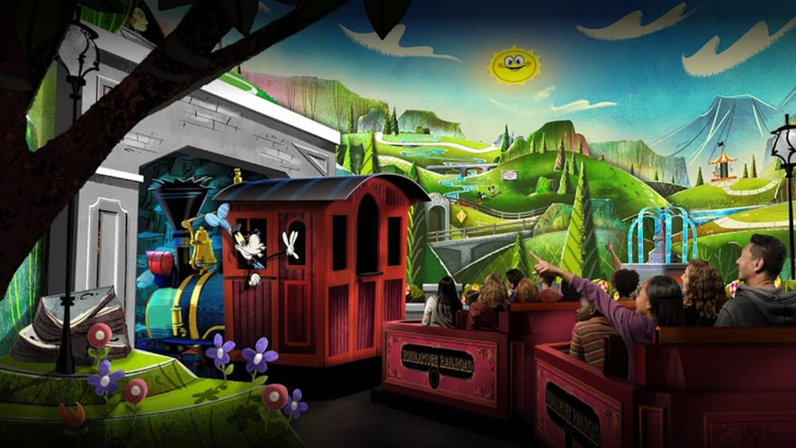 Todos a bordo da Mickey and Minnie's Runaway Railway no Disney's Hollywood Studios
