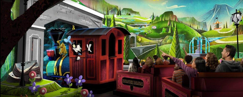 Todos a bordo da Mickey and Minnie's Runaway Railway no Disney's Hollywood Studios
