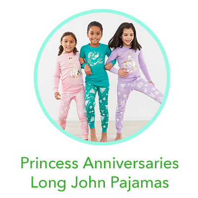 Disney Princess Anniversaries Long John Pajamas In Organic Cotton