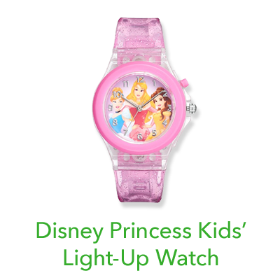 Disney Princess Aurora, Belle & Cinderella Kids' Light-Up Watch