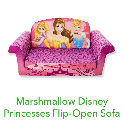 Marshmallow Disney Princesses Flip-Open Sofa