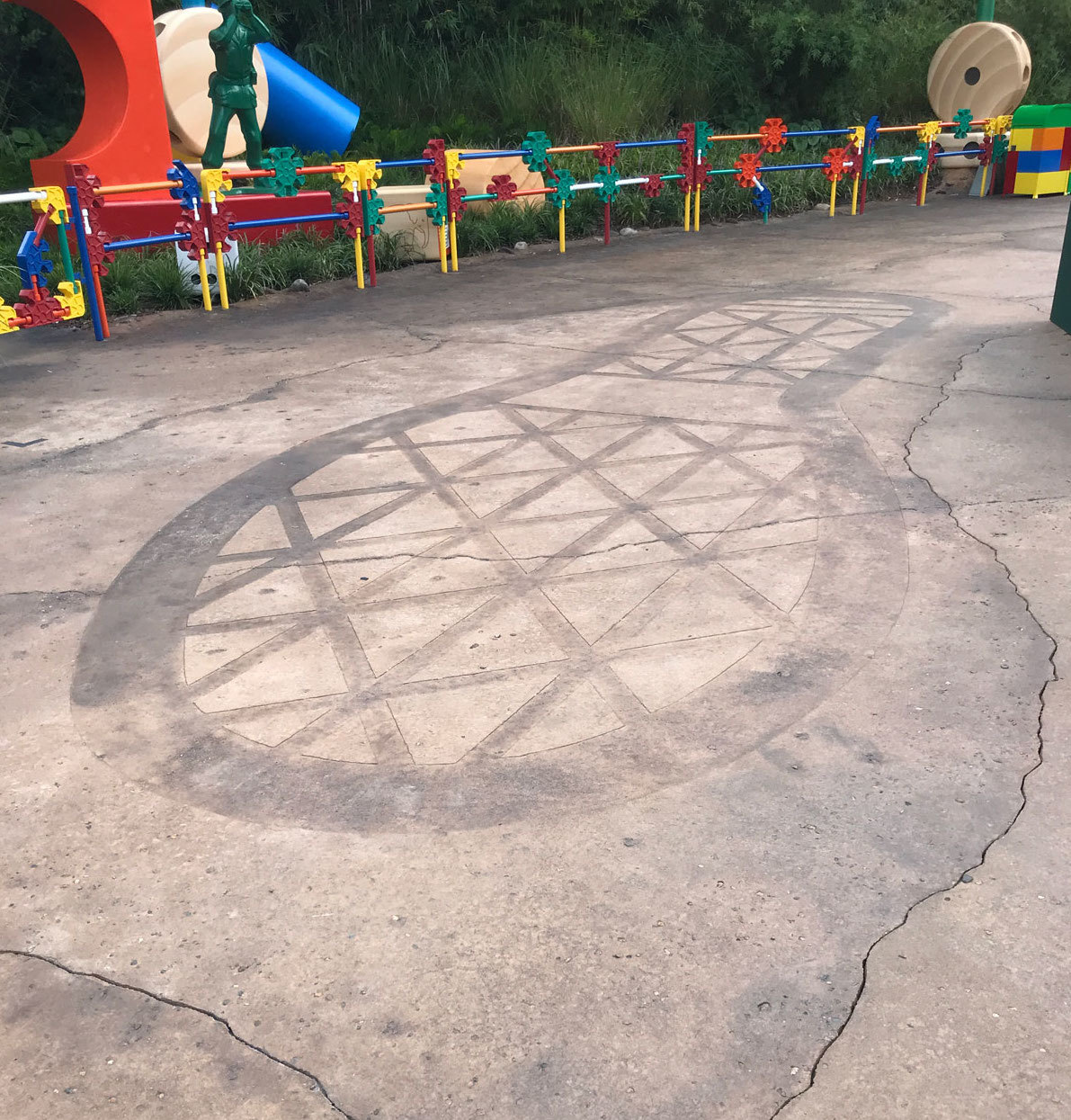 Andy's Footprint in Toy Story Land in Walt Disney World