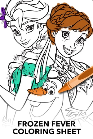 Frozen Fever Coloring