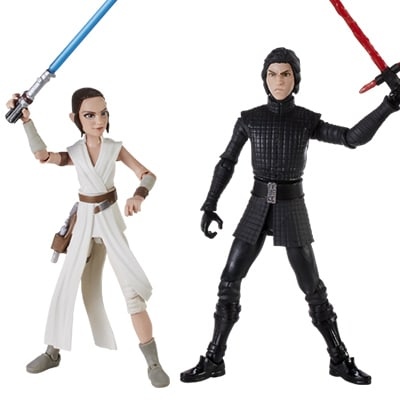Rey and Supreme Leader Kylo Ren Action Figures