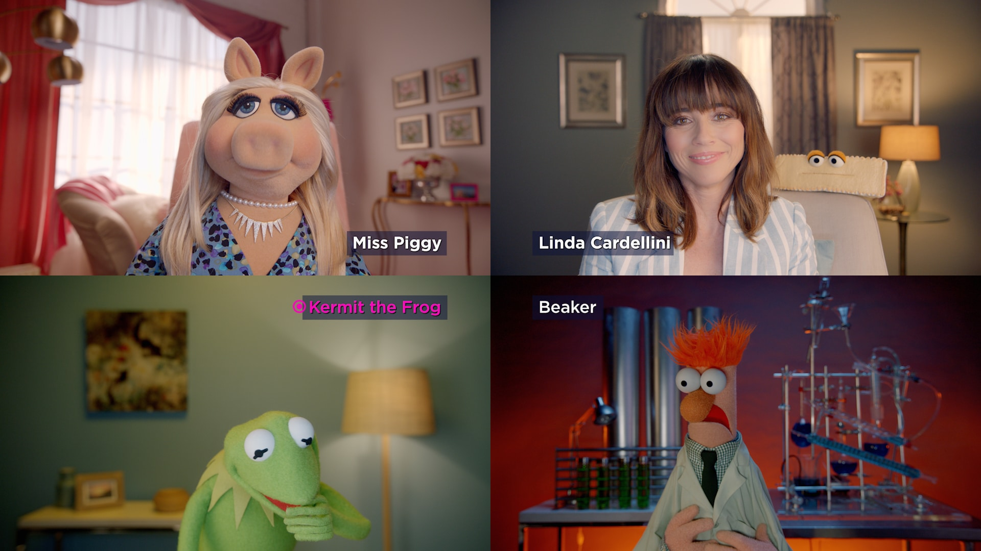 "Miss Piggy and Linda Cardellini in ""Muppets Now,"" streaming only on Disney+"