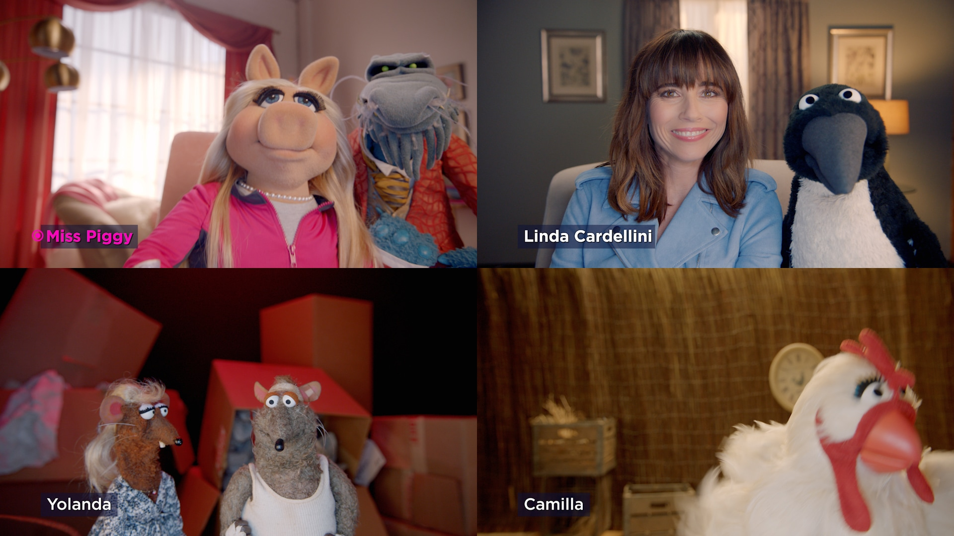 """Miss Piggy and Linda Cardellini in """"Muppets Now,"""" streaming only on Disney+"""