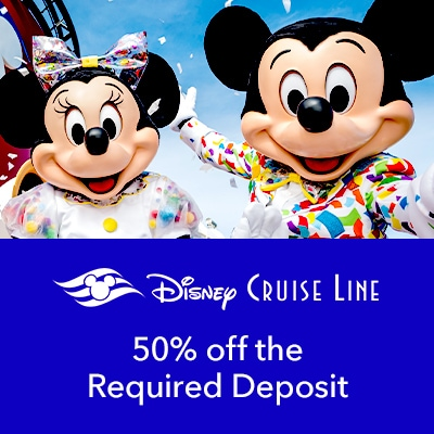Stream - Parks - DCL - 50% Off Deposit Offer