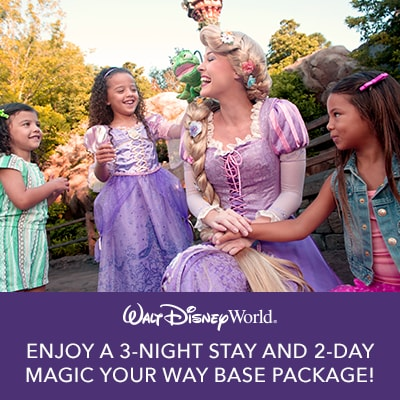 Enjoy a 3-night stay and 2-day Magic Your Way base package!