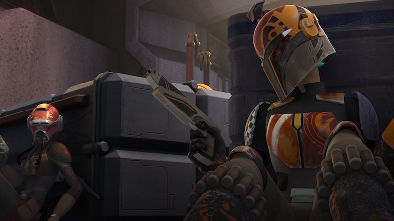 Sabine Wren and Ketsu Onyo engaged in combat