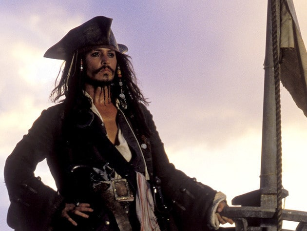 Captain Jack Sparrow makes port.