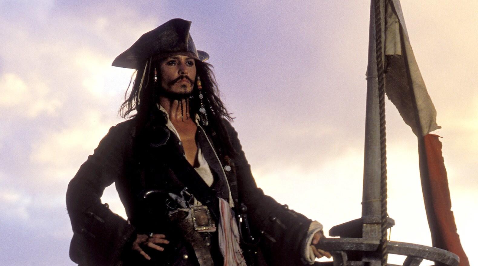 Captain Jack Sparrow makes port.