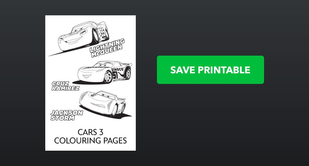 Cars 3 - Colouring Pages