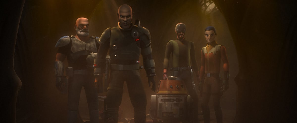 Saw Gerrera and the Ghost Crew on Geonosis