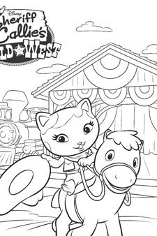 Sheriff Callie Colouring Page