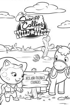 Sheriff Callie Colouring Page 3 Disney Junior Singapore
