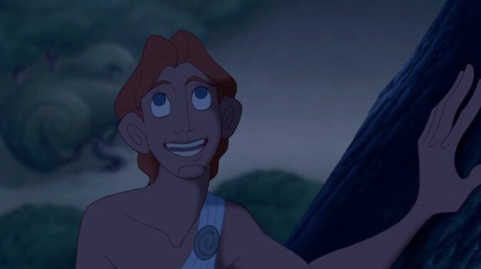 "Hercules singing in the animated movie ""Hercules"""