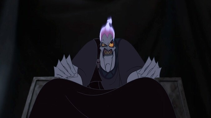 "Hades from the animated movie ""Hercules"""