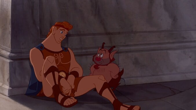 "Hercules and Phil in the animated movie ""Hercules"""