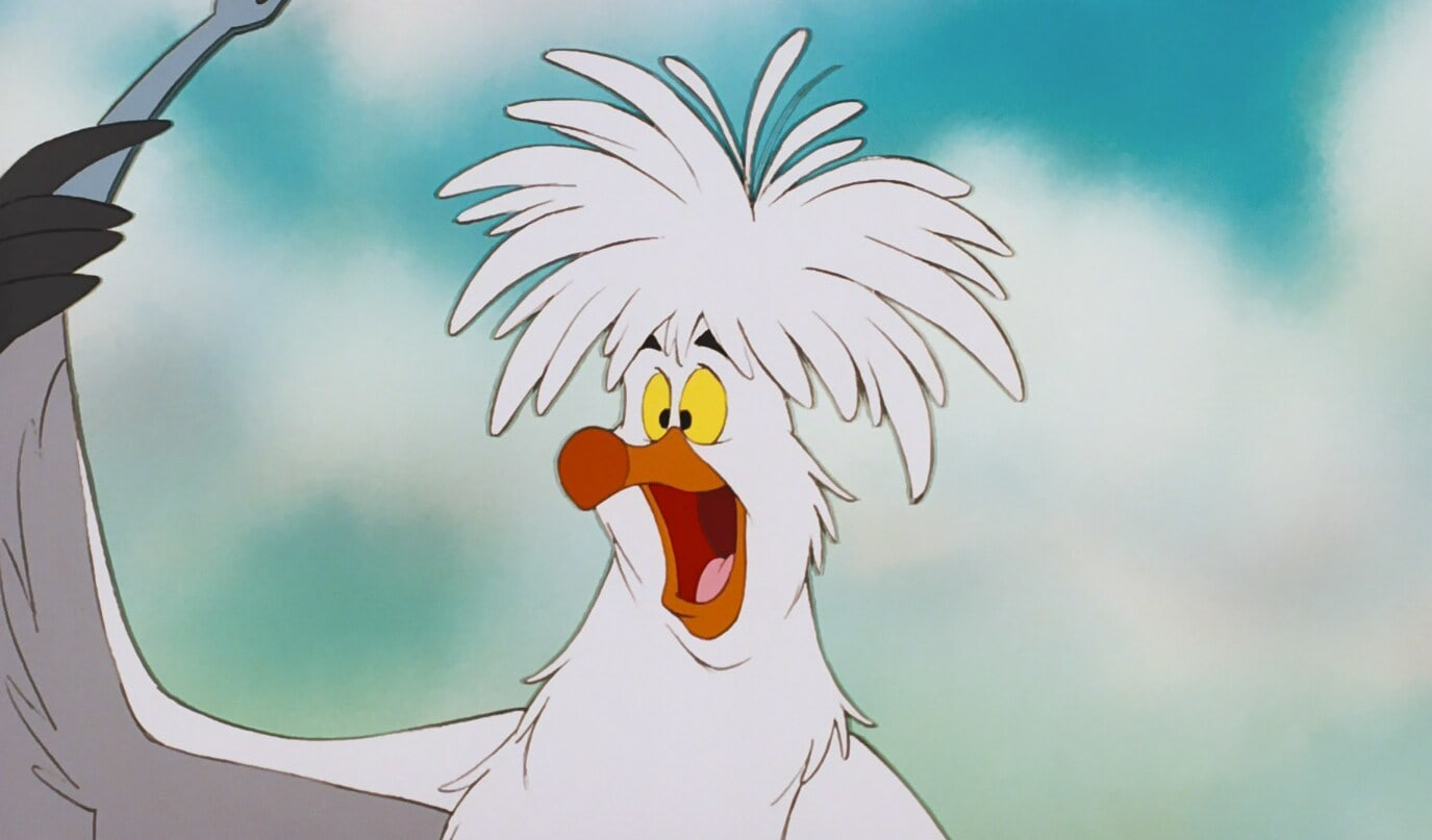 """Scuttle from the animated movie """"The Little Mermaid"""""""