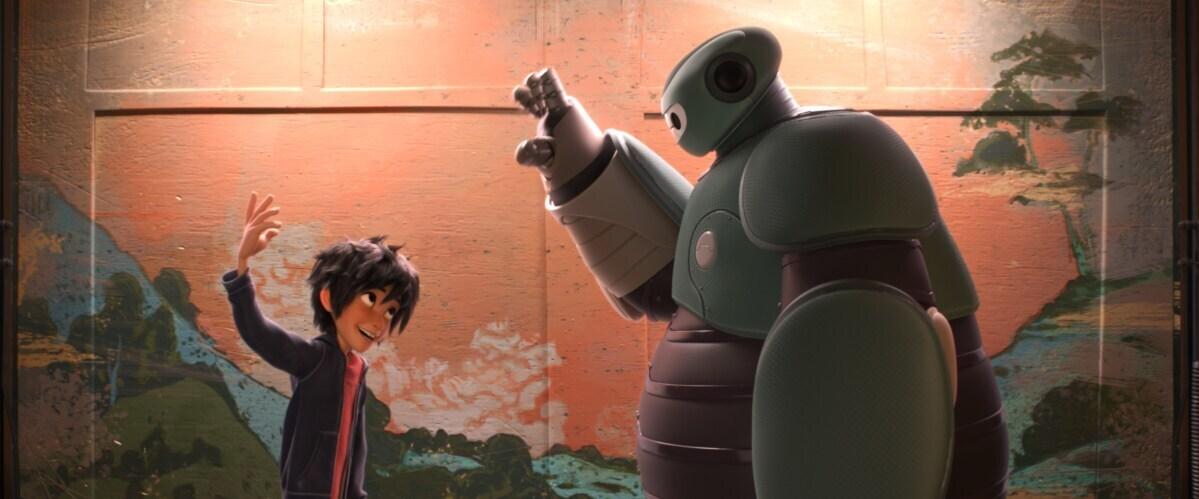 "Baymax and Hiro from the animated movie ""Big Hero 6"""