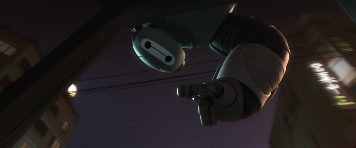 """A darker Baymax in the animated movie """"Big Hero 6"""""""