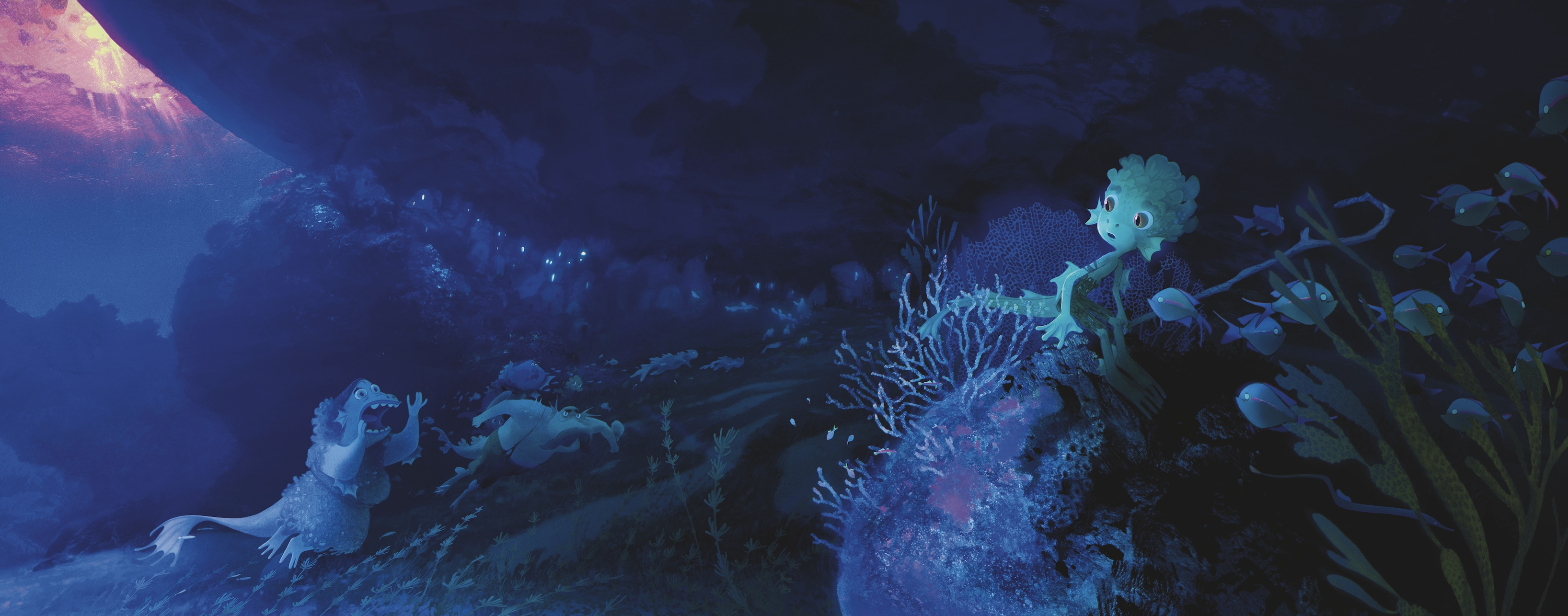 painting of Luca and his sea monster family