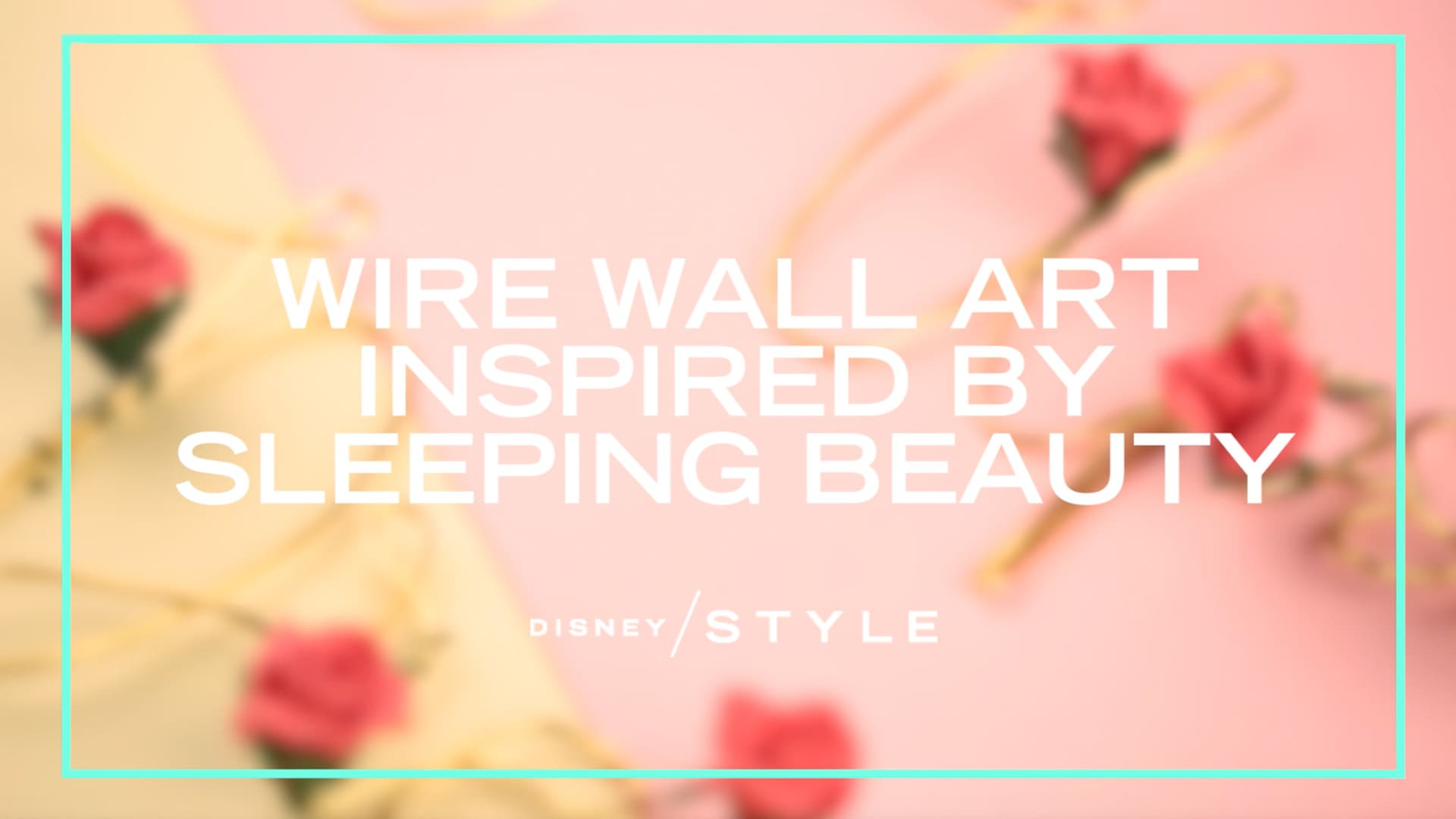 Decorate Your Room With This Beautiful Gold Wall Art Inspired By Sleeping Beauty