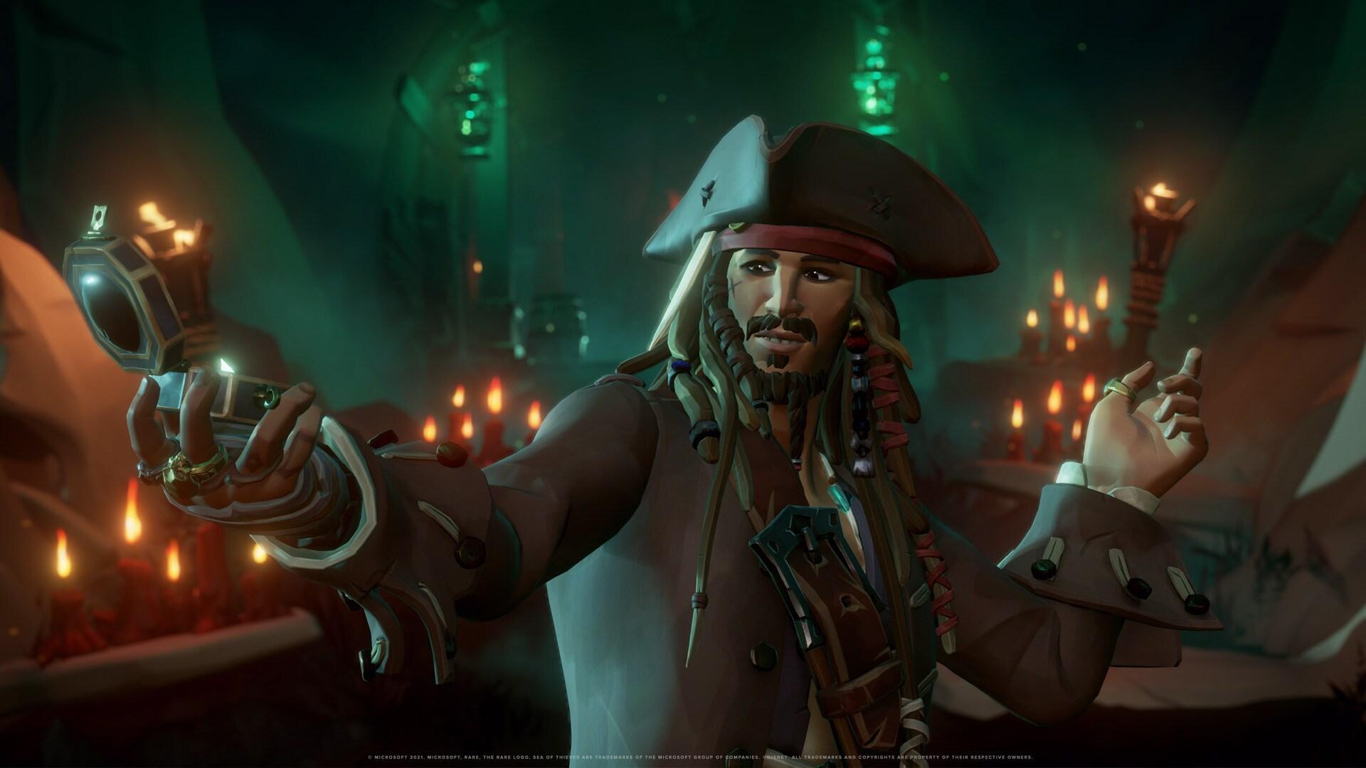 Únete al Capitán Jack Sparrow en Sea of Thieves: La Vida Pirata