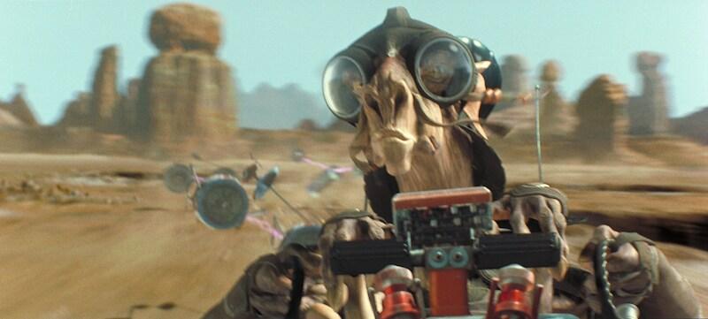 Sebulba piloting his podracer