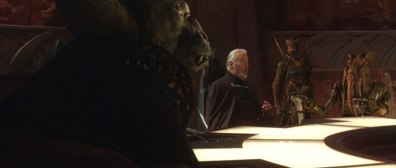 Dooku meeting with prospective members of the Confederacy