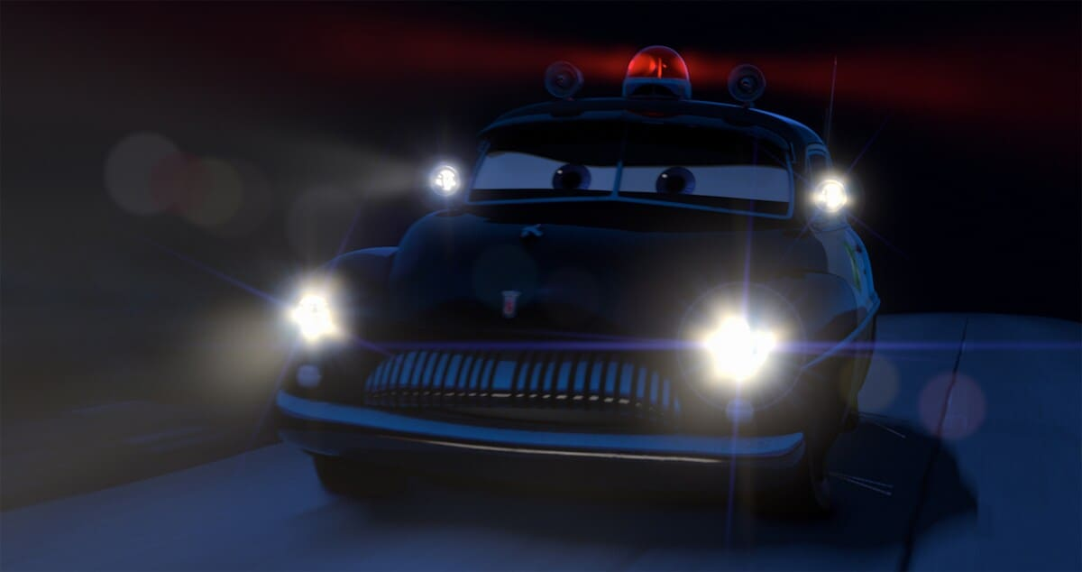 """Radiator Springs Sheriff from the movie """"Cars"""""""