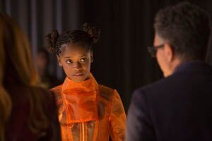 Shuri and Bruce Banner in a scene from Avengers: Infinity War.