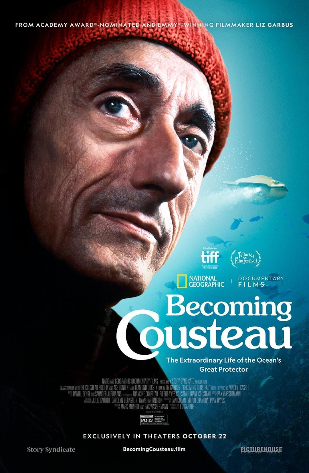Becoming Cousteau poster art