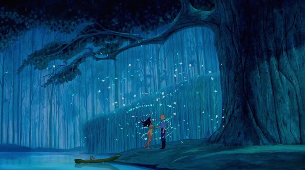 "Pocahontas and John Smith in ""Pocahontas"""